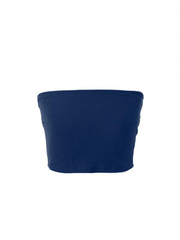 Top Reto Canelado Azul Profundo