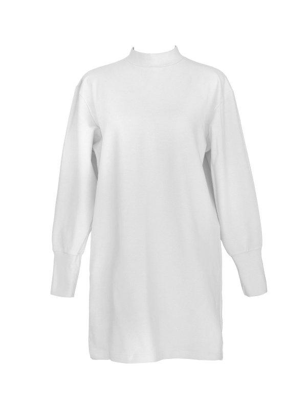 Vestido Moletom Branco-main