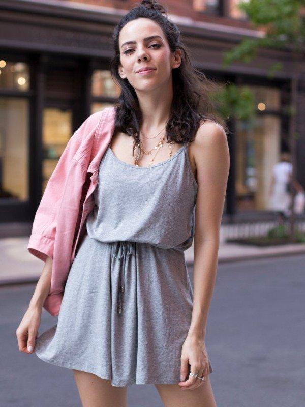 Vestido Alice Mescla Curto-main