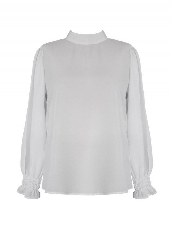 Camisa Gola Alta Branca