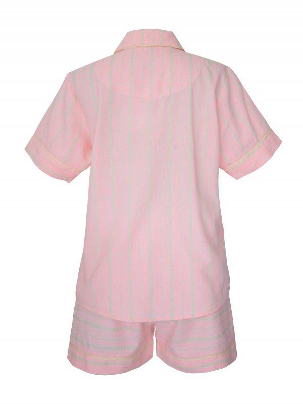 Pijama Curto Rosa Claro-1