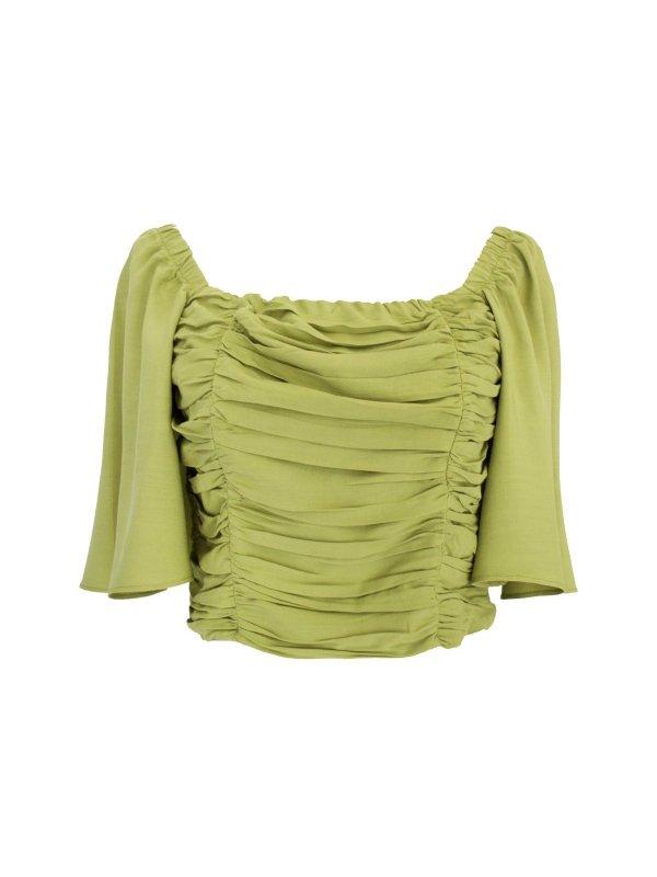 Cropped Drapeado Verde