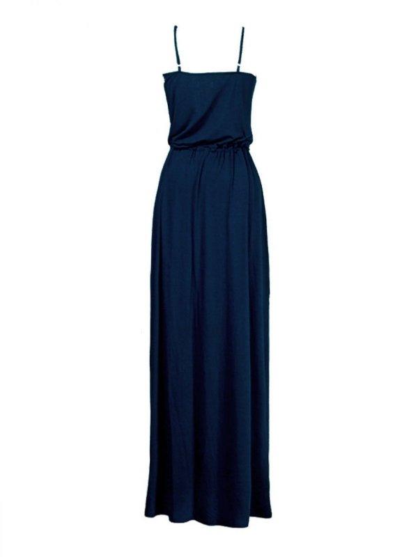 Vestido Alice Azul Marinho  Longo SEGUNDA LINHA