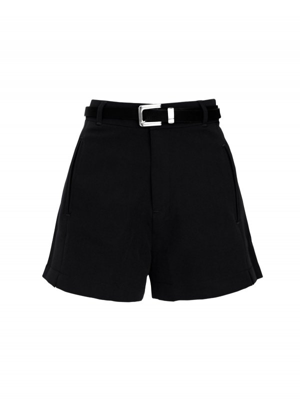 Shorts Alfaiataria Preto + cinto de mimo-main