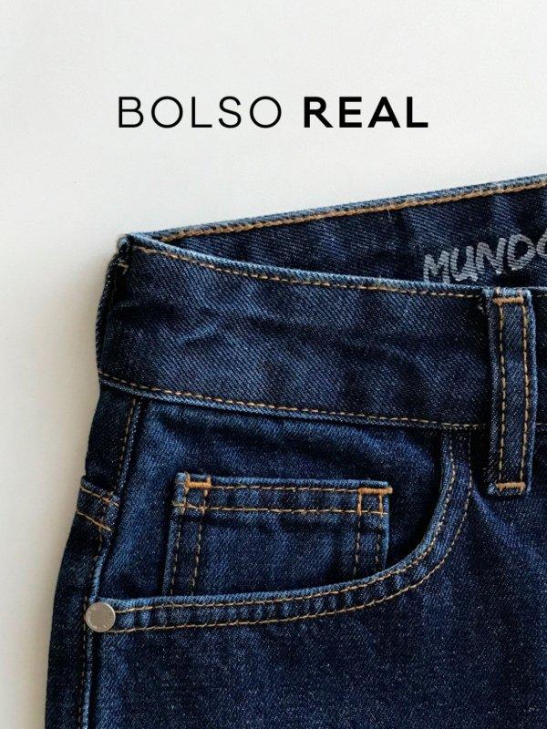 Calça Jeans Reta -8