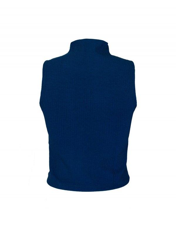 Cropped Isadora Azul Profundo