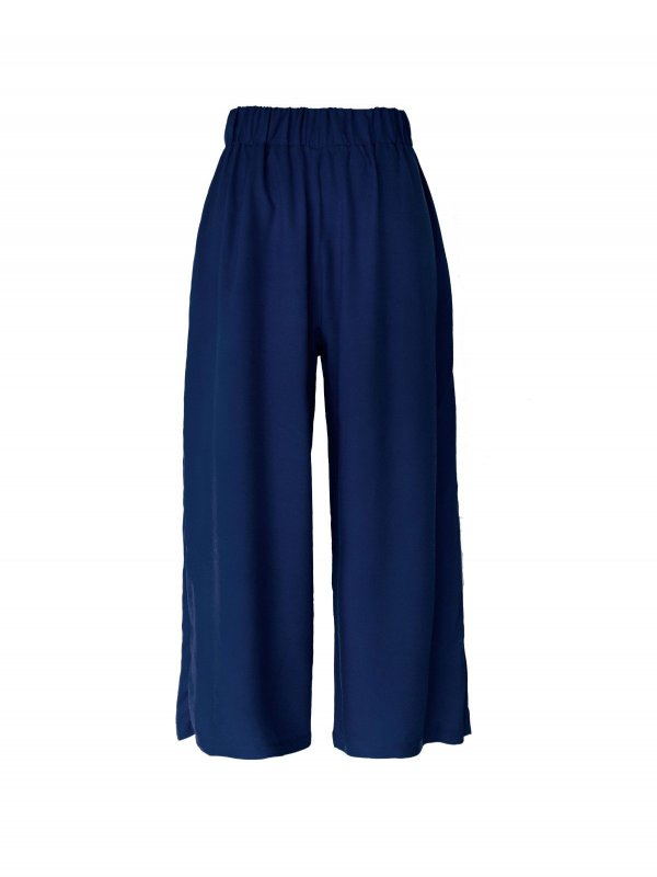 Calça Pantacourt Azul Marinho