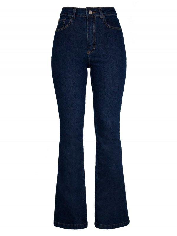 Calça Jeans Flare Escura SEGUNDA LINHA-5