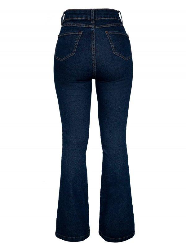 Calça Jeans Flare Escura-6