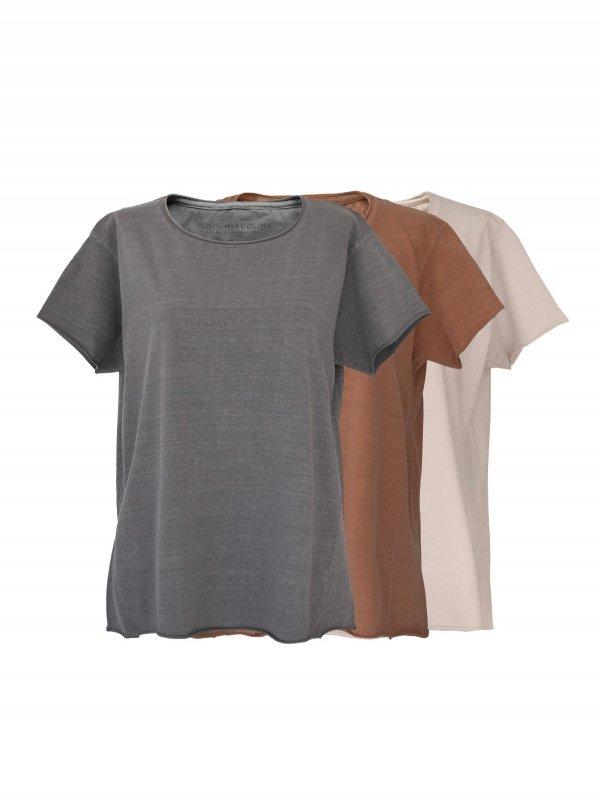 Combo T-Shirts Chumbo, Off White, Terra