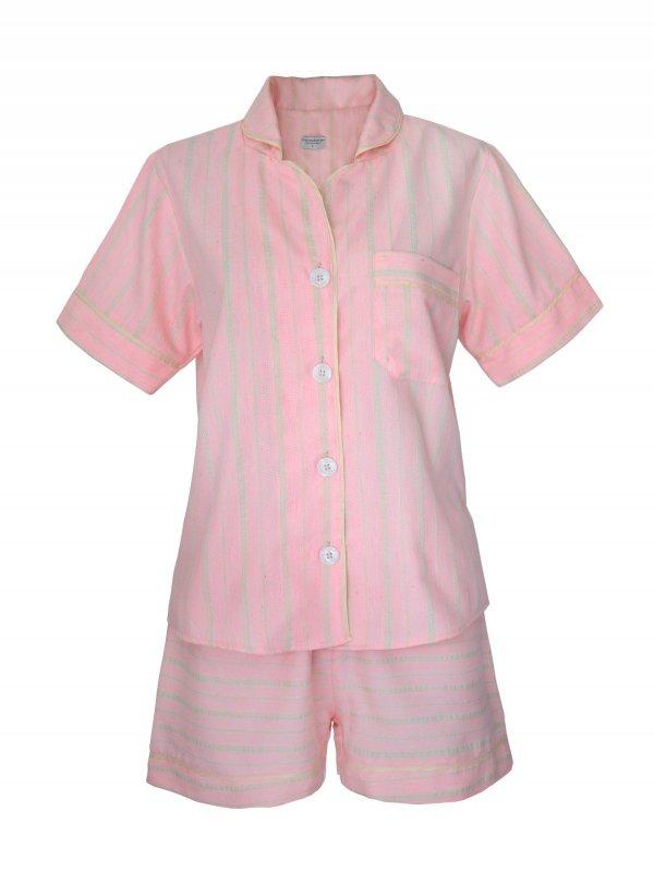 Pijama Curto Rosa Claro-0