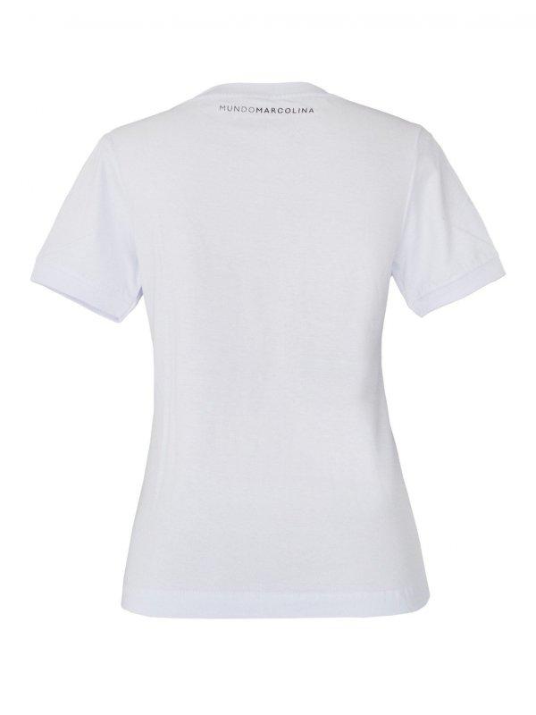 T-Shirt Baby Look Gola Redonda Branca