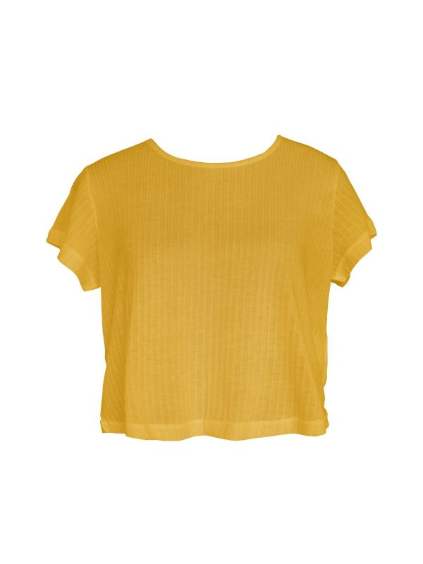 Cropped Podrinho Amarelo Solar
