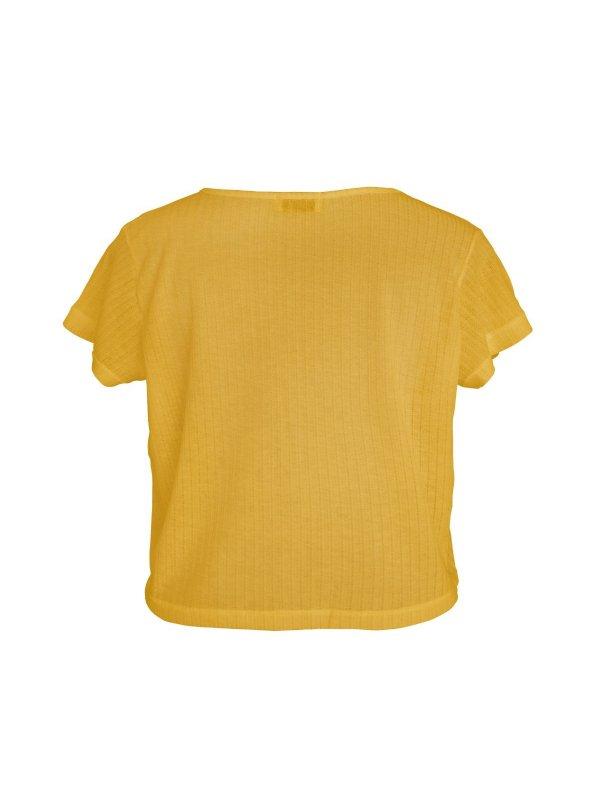Cropped Podrinho Amarelo Solar SEGUNDA LINHA