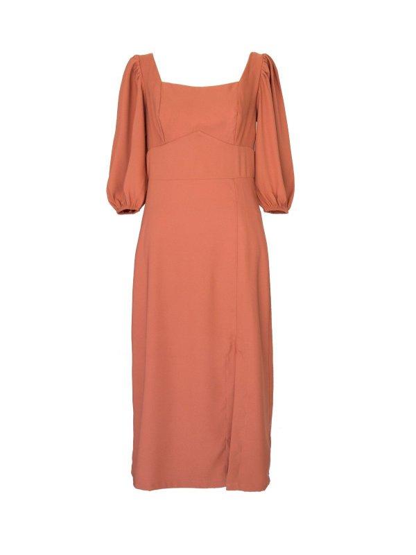 Vestido Midi Camelo