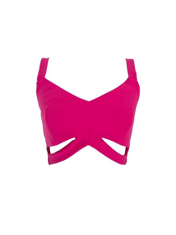 Cropped Vazado Pink SEGUNDA LINHA
