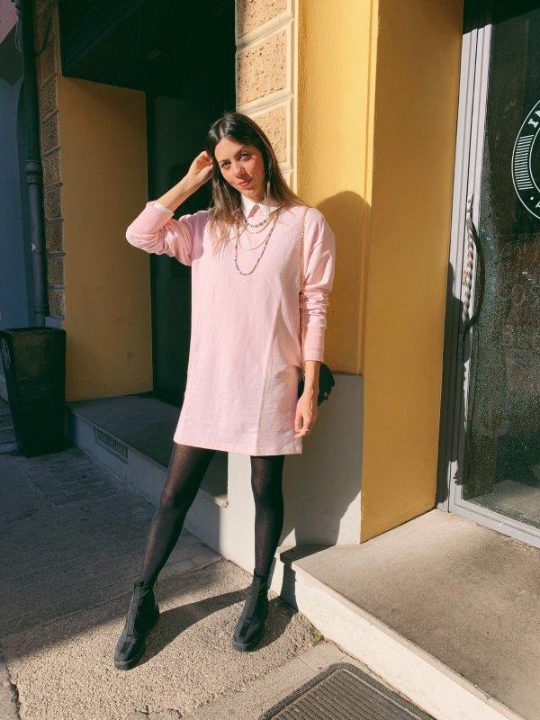 Vestido Moletom Rosa -main