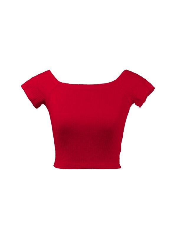 Cropped Bia Vermelho Rubi