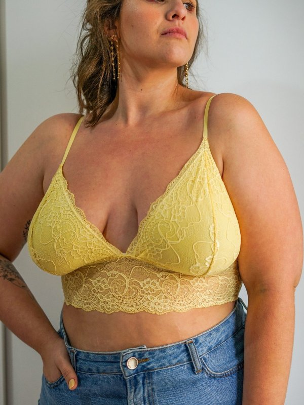 Top Tifany Amarelo