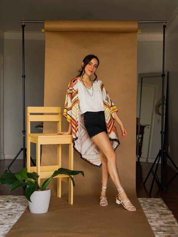 Kimono Gisele Geométrico