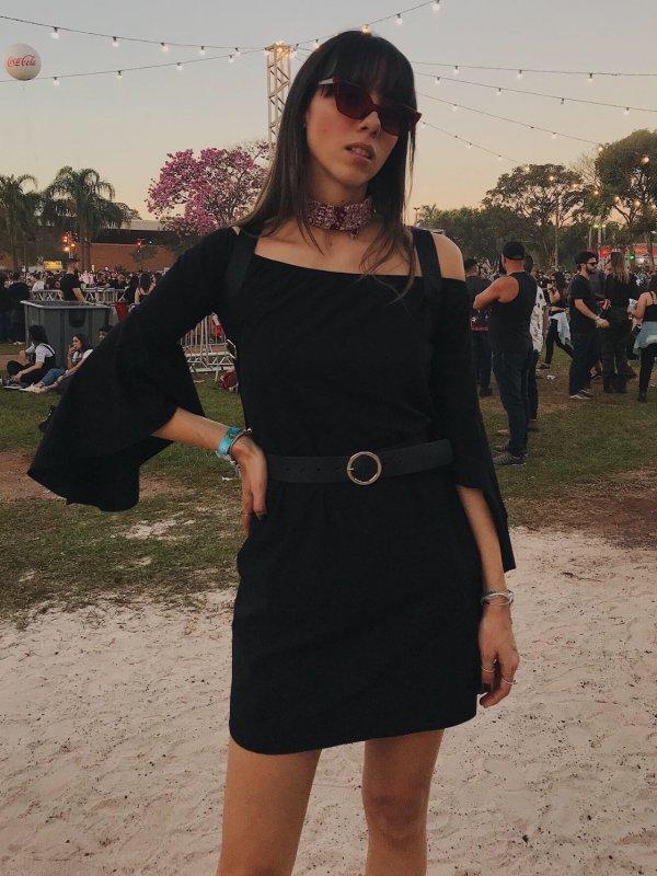 Vestido Carolina Preto