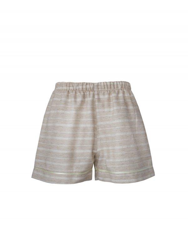 Pijama Curto Areia-3