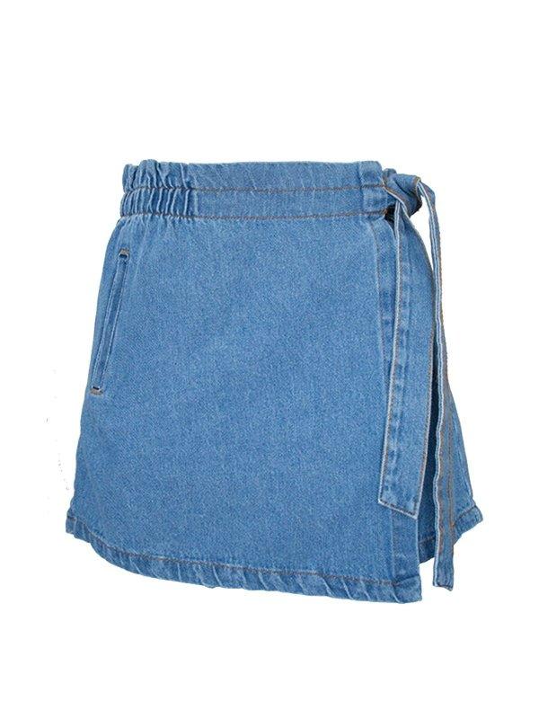 Shorts Saia Jeans Claro SEGUNDA LINHA
