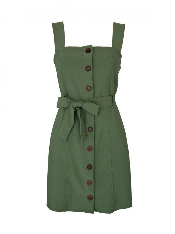 Vestido Serena Verde Militar