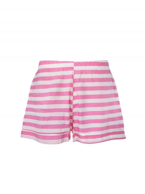 Shorts Pijama Rosa com Listras