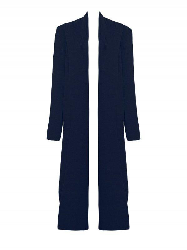 Casaco Canelado Azul Marinho