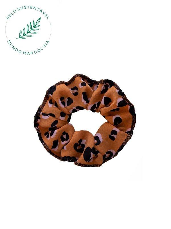 Scrunchie Estampa Onça