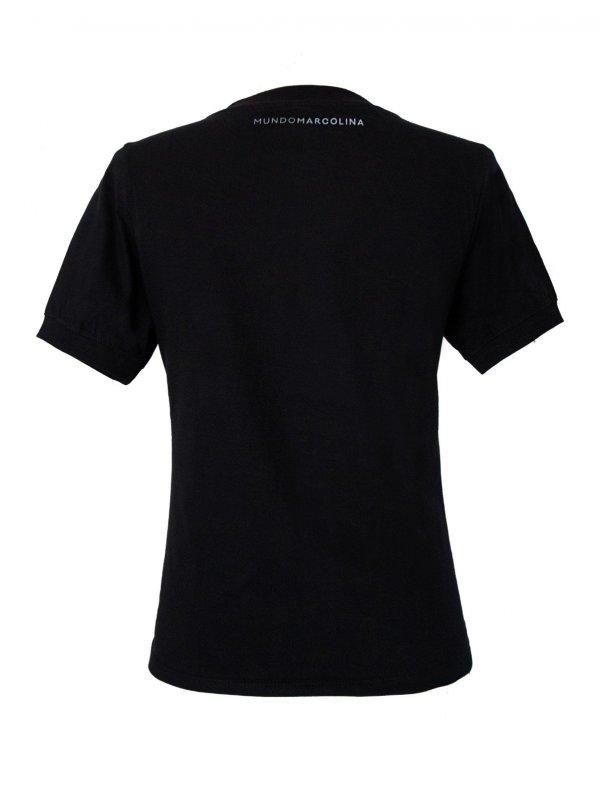 T-Shirt Baby Look Gola Redonda Preta