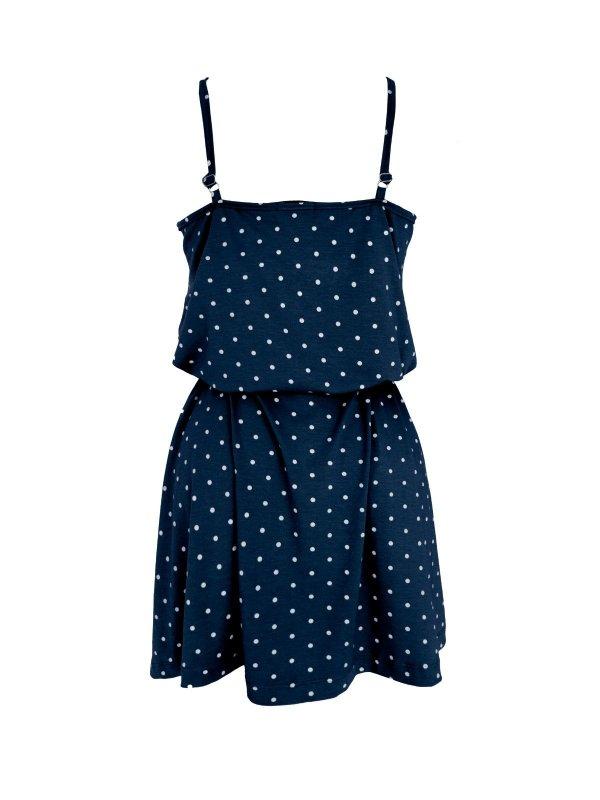 Vestido Alice Poá Azul