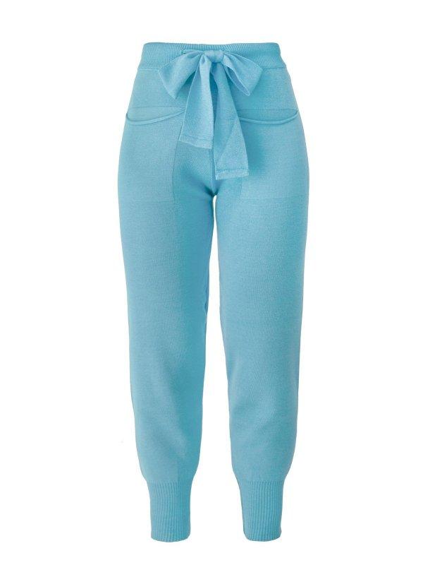 Calça Jogger Tricô Azul + Cropped de mimo