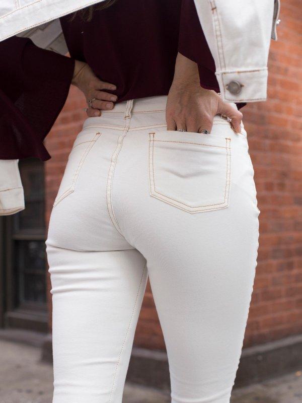 Calça Nicole Sarja Off White