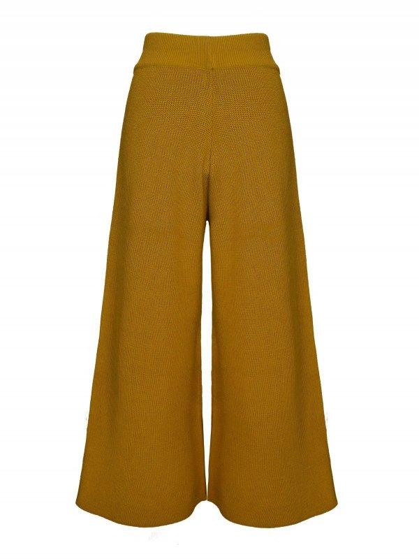 Calça Pantalona Cropped Tricô Ouro SEGUNDA LINHA