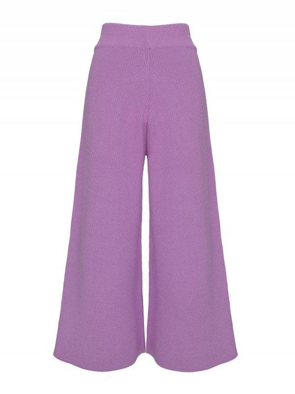 Calça Pantalona Cropped Tricô Lilás SEGUNDA LINHA