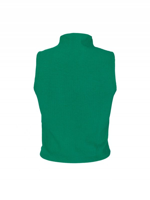 Cropped Isadora Canelado Verde