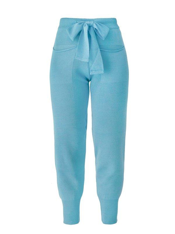 Calça Jogger Tricô Azul + Cropped de mimo SEGUNDA LINHA