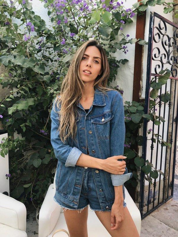 Maxi Jaqueta Jeans Escura -main