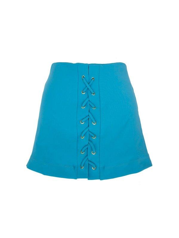 Shorts Saia Ilhós Azul Turquesa