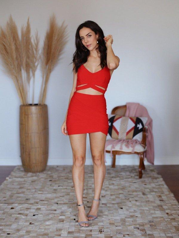 Shorts Saia Laís Vermelho