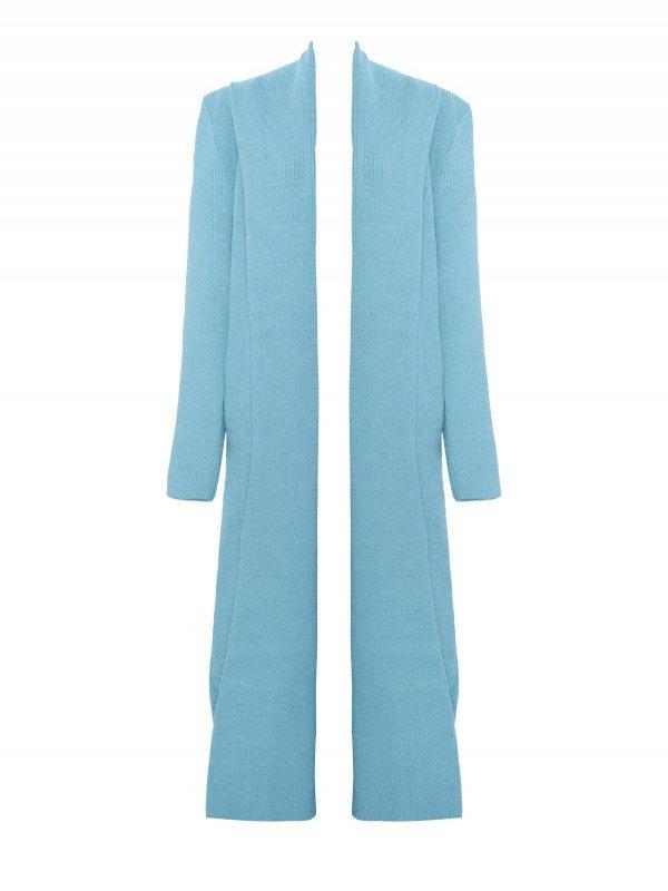 Casaco Canelado Azul Egeu