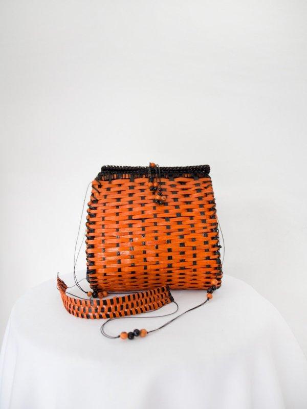 Bolsa quadrada laranja 07