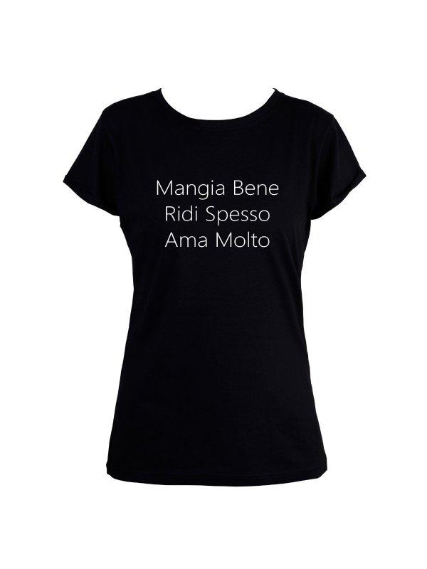 T-shirt Mangia Bene Preta