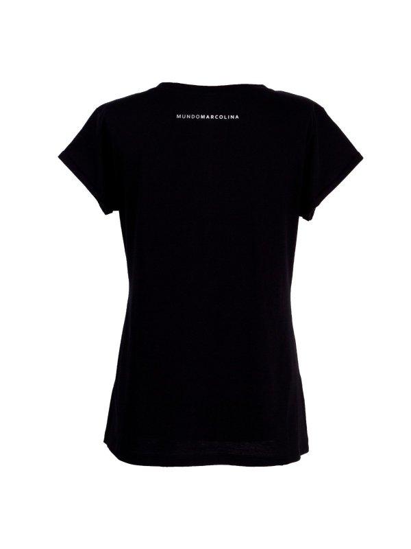 T-shirt Mangia Bene Preta SEGUNDA LINHA