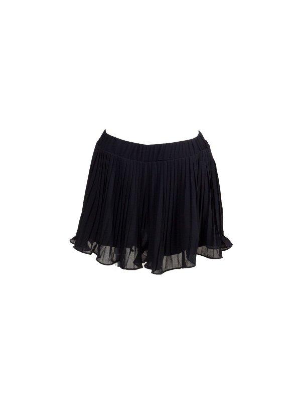 Shorts Saia Plissado Preto
