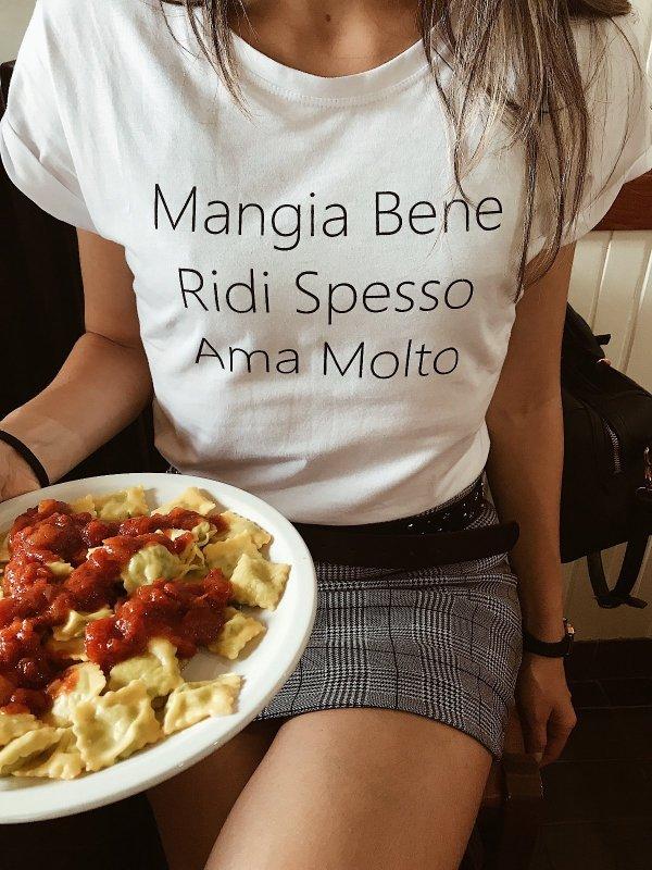 T-shirt Mangia Bene