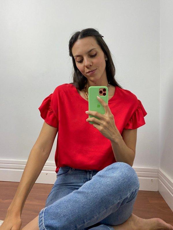 Blusa Brisa Vermelha
