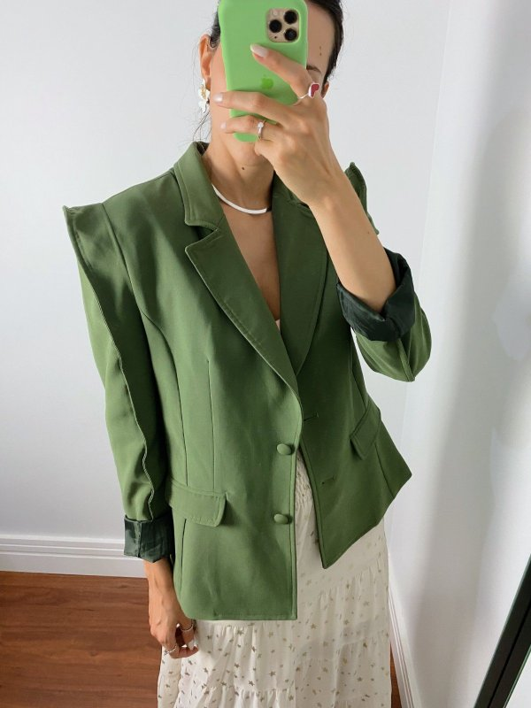 Blazer Ombré Verde Militar